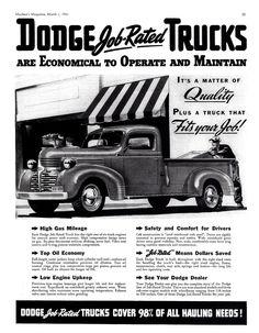 1941 Dodge Pickup Truck Ad (Canada)