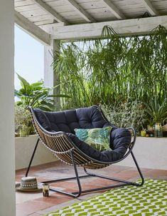 Interiors design ideas room home landscape decor Backyard Garden Design, Backyard Patio, Balcony Furniture, Outdoor Furniture Sets, Siena, Bali House, Decoration Ikea, Relax, Diy Home Crafts