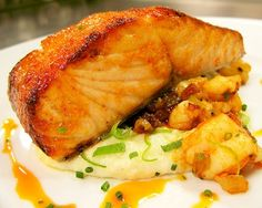 Chef Michael Lomonaco's Slow-Roasted Salmon with Ginger Recipe