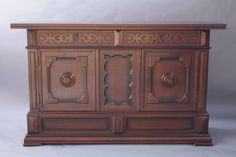 1920s Spanish Revival Walnut Sideboard | From a unique collection of antique and modern sideboards at https://www.1stdibs.com/furniture/storage-case-pieces/sideboards/