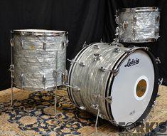 Vintage Ludwig 1960's 3pc Drum Set Sky Blue Pearl | eBay