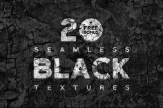 20 Free Seamless Black Textures