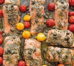 Annabel Langbein Flash-Roasted Pesto Salmon Recipe
