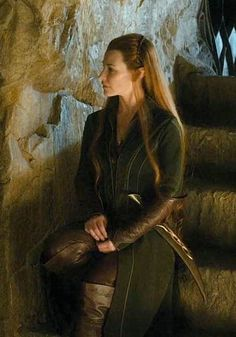 Tauriel, The Hobbit trilogy Gandalf, Legolas And Tauriel, Thranduil, The Hobbit Movies, O Hobbit, Elfa, Desolation Of Smaug, Evangeline Lilly, Elvish