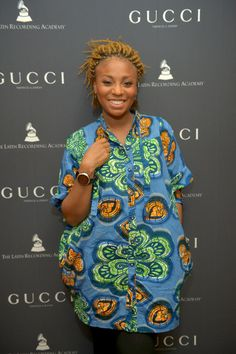 Goyo - Gucci Timepieces & Jewelry Hosts Celebratory Toast In Honor Of The Special Edition Latin GRAMMY Collection African Dresses For Women, African Attire, African Women, African Print Fashion, Africa Fashion, African Prints, Ghanaian Fashion, African Design, African Beauty