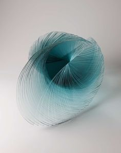 """Title unknown from the """"Free Essence"""" series by Japanese artist Niyoko Ikuta (b.1953). Laminated sheet glass. via this is colossal"""