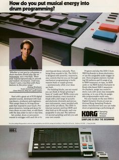 Korg DDD-1 Was Launched in 1986, You Could Also Sample With It If You Had Purchased The Optional Sample Board (12bit).