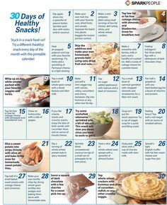 30 Days of Healthy Snacks | via @SparkPeople #food #nutrition #diet