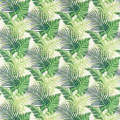 tejido estampado de hojas manila de sanderson