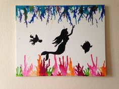 Ariel melted crayon art