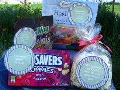 """""""Hard & Sweet Times"""" Care Package - change to be appropriate for sending to your Bible College students. Missionary Care Packages, Missionary Gifts, Bible College, Candy Bouquet, Hard Candy, Craft Gifts, Cool Gifts, Gift Baskets, Dear Elder"""