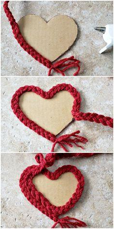 Braided Yarn Heart Garland - A Wonderful Thought