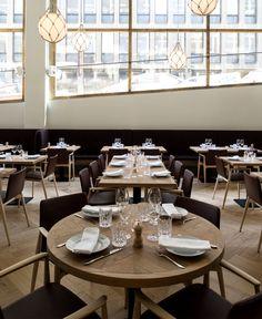 Bronda Restaurant Decor Inspired by Scandinavian Sea Coast street level space vibrant restaurant