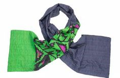 Handcrafted silk kantha scarf from Bangladesh #FairTrade