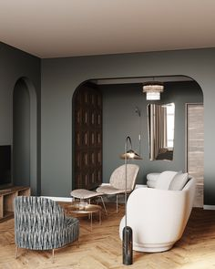 Contemporary Interior Design, Home Interior Design, Interior Architecture, Condo Living, Living Spaces, Apartment Design, Luxury Living, Interior Inspiration, Living Room Designs