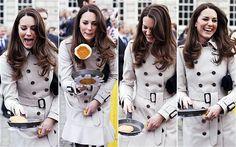 Kate Middleton demonstrates her pancake flipping skills last Shrove TuesdayPhoto: REUTERS