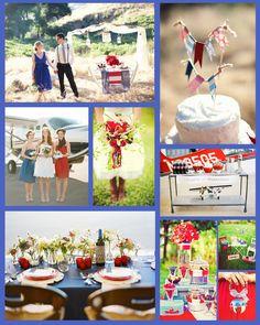 4th of july wedding theme... perfect for jennifers future wedding