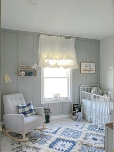 Accent Walls In Living Room, Accent Wall Bedroom, Iron Crib, Board And Batten, Nursery Inspiration, Nursery Ideas, Boy Room, Kids Bedroom, Room Decor