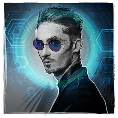 Similar for Daryl? The hair and glasses, especially. Maybe a different colour scheme. He could dye it whenever he goes to work at a different facility. What a nerd. Cyberpunk Rpg, Cyberpunk Character, Character Concept, Character Art, Character Design, Character Ideas, Concept Art, Keanu Reeves, Shadowrun Rpg