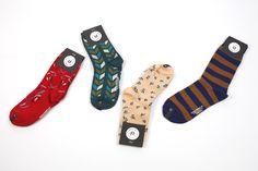 Sockwork - February 2015 #socks #subscriptionbox #sockwork #striped #floral #chevron #patterns @sockwork