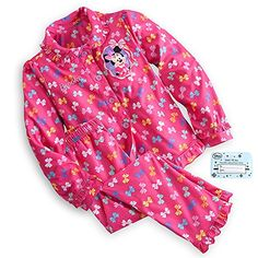 Disney Store Minnie Mouse Clubhouse Pajama Sleep Gift Set for Girls Colorful Bow Size 56 *** Click image to review more details.