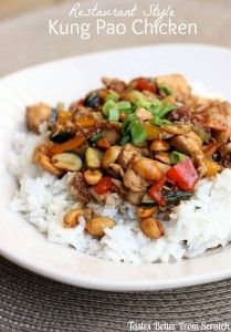 Restaurant Style Kung Pao Chicken recipe from TastesBetterFromScratch.com