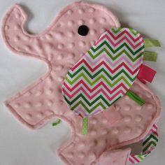 this is a 'sensory lovey' in minky and stripes-- Charlotte would absolutely LOVE this!