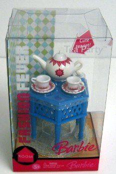 2006 NEW Barbie Fashion Fever Room - Tea Party Set - Mattel