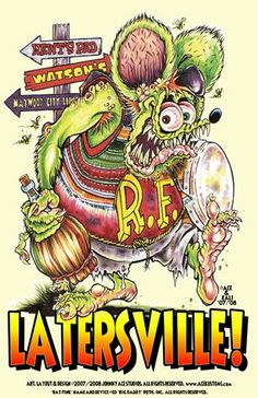 Johnny Ace Original Art Rat Fink Big Daddy Roth Kustom Kulture Monster Beatnik