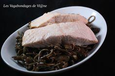Les Vagabondages de Vi@ne: Saumon et spaghetti au vin rouge