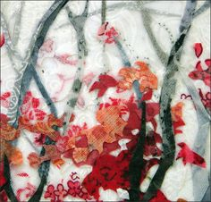 Collage in Fabric - Laura Breitman - Mixed Media Collage Artist - Fabric and Paper DETAIL