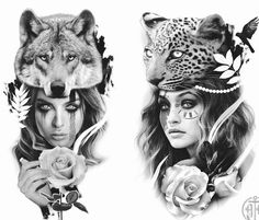 You have done all of your research and chosen the perfect artist for your design. Wolf Tattoos, Native Tattoos, Leg Tattoos, Body Art Tattoos, Portrait Tattoos, Celtic Tattoo Symbols, Celtic Tattoos, Tattoo Sketches, Tattoo Drawings