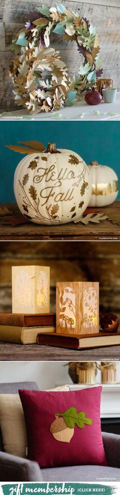 Fall into DIY Home Decor - Lia Griffith - www.liagriffith.com #diyfalldecor #diyhomedecor #falldecor #diyinspiration #madewithlia