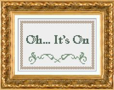 Oh ... It's On cross stitch pattern PDF instant by ChaoticStitches, $3.00