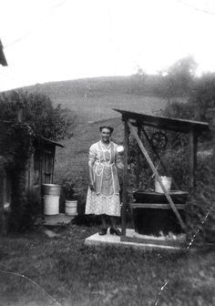 Water at the well, Roane County, West Virginia, ca 1918