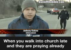 When you walk into church late meme  #Christian #GIF #Meme