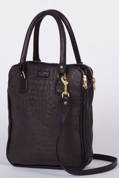 GOOD AS GOLD — DEADLY PONIES Mr CROC TOTE, BLACK    http://www.goodasgold.co.nz/collections/deadly-ponies    http://www.goodasgold.co.nz/collections/deadly-ponies