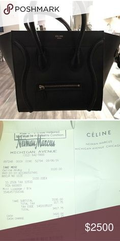 Black Celine mini luggage bag Good condition . Purchased from neiman  Marcus. This is the 133bf399c8
