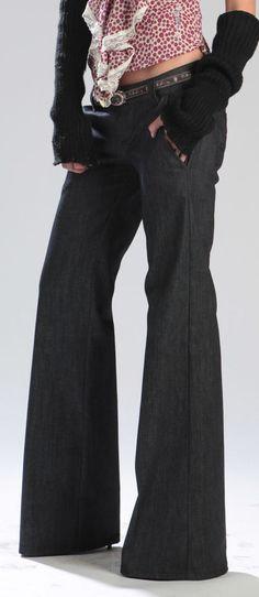 Pantalone Jeans donna palazzo lungo fondo gamba cm 27  tg. 27