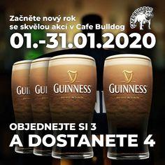 Nový rok s Guinnessem v Cafe Bulldog Guinness, Dublin, Brewing, Drinks, Drinking, Beverages, Drink, Beverage