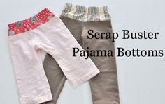 Use clothing and fabric scraps to make a pair of pajama bottoms