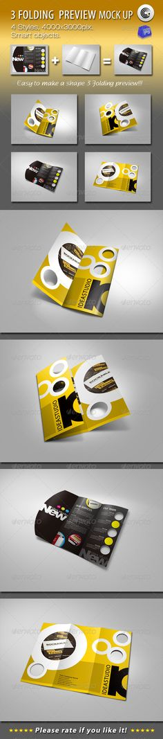 Please watch the simple demo. File Information: ---------------- Dimensions: Resolution: 72 dpi 4 Styles Mock-ups Fold Mockup Photoshop, 6 Tag, Print Templates, 3 D, Shapes, Graphics, Tri Fold, Brochures, Flyer Template