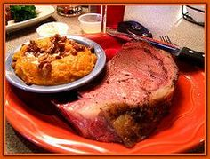 Try to recreate Texas Roadhouse Prime Rib using copycat recipe. See here: http://www.copycatrecipeguide.com/How_to_Make_Texas_Roadhouse_Prime_Rib