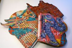 Stenciled, Shaped, Hand-Made Books by Gwen Lafleur