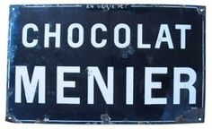 Antique French Chocolate Shop Sign