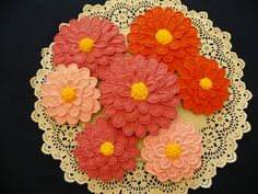 Yes Cookies. Summer Flower Cookies. $48.00, via Etsy.