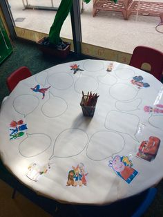 Cartoon speech bubbles writing area #eyfs #unicorns #LOLdolls #writing #blaze #peterrabbit