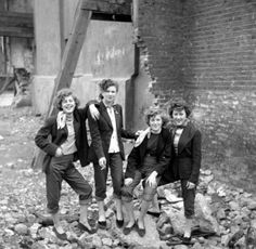 Teddy Girls from the 1950s