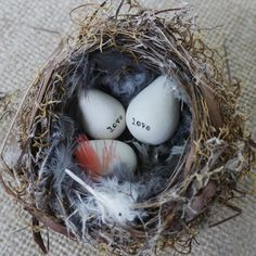 porcelain love eggs.
