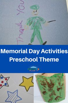 Memorial Day Activities for Preschoolers theme - let's help them honor and remember our soldiers!